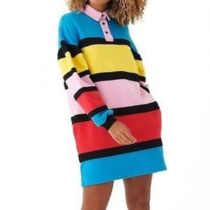 ✨ Rare Lazy Oaf shirt Dress ✨ 🌈 Colorblock 🌈